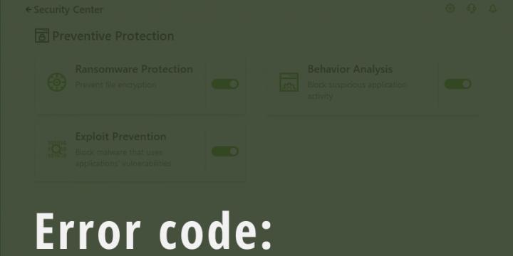 DrWeb Security Space антивирусыг суулгах үед дараах алдааны кодууд гарвал: